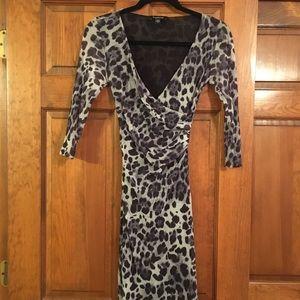Bebe leopard print dress